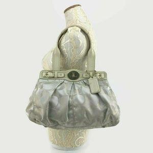 COACH Signature Metallic Shimmer Lurex Garnet Bag